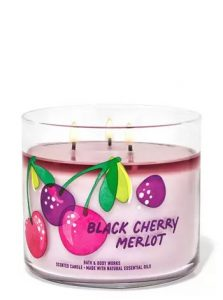 black cherry merlot scented candle
