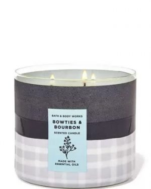 BOWTIES & BOURBON SCENTED CANDLE