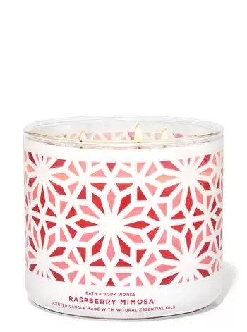 raspberry mimosa scented candle
