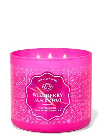 wildberry jam donut scented candle