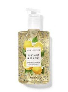 sunshine and lemons hand sanitizer