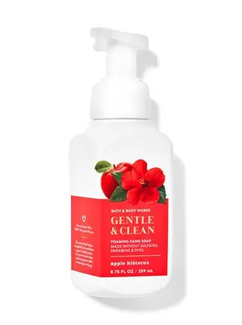 apple hibiscus hand soap